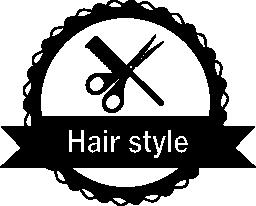 商業サロン無料アイコンの髪スタイルのバッジ