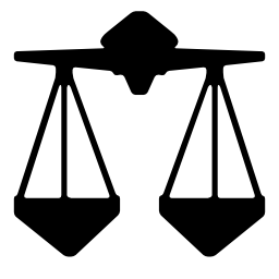天秤座のバランスの正義のスケール記号無料アイコン