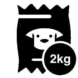 2 kg 無料アイコンの犬食品袋