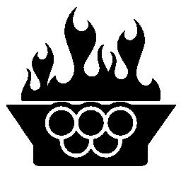 オリンピック火災無料アイコン