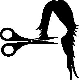 女性のヘアカット無料アイコン