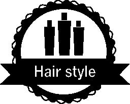 髪のスタイルは、無料のアイコンをバッジ