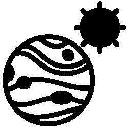 木星や太陽無料アイコン