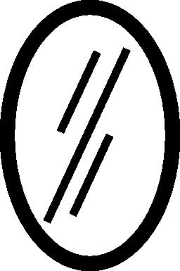 楕円形の垂直方向のミラー無料アイコン