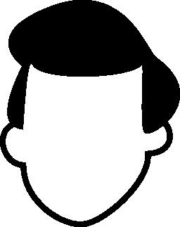 髪の無料のアイコンを持つ男性の頭部