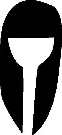 女性の長い髪の無料のアイコン