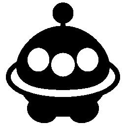 エイリアン無料アイコンの宇宙船
