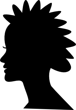 女性の短い髪のスタイルのシルエットの無料のアイコン