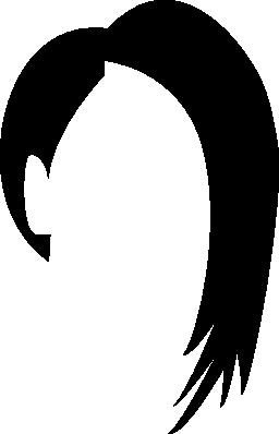 髪型 1 つの短い側と他のフリーのアイコン
