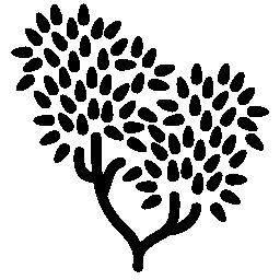 葉葉の無料のアイコンを持つツリー