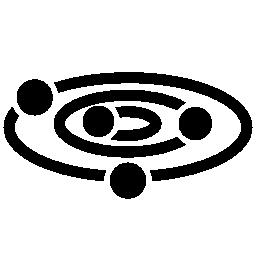 惑星および軌道の無料アイコン