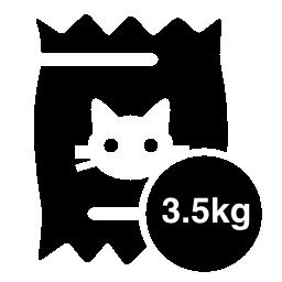 3.5 kg の無料アイコンの猫食品袋