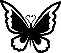 蝶トップ ビュー無料アイコン