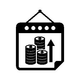 増加収入カレンダー ページ無料アイコンと月