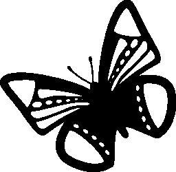 蝶のデザインのドットとストライプの無料アイコン