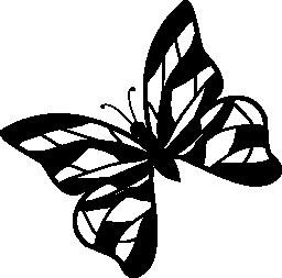 ストライプ無料アイコンと蝶のデザイン