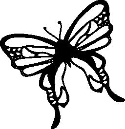 無料のアイコンを左に回転蝶トップ ビュー