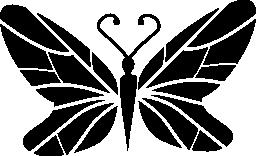 線翼デザイン無料のアイコンと黒蝶トップ ビュー