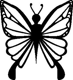地蝶デザイン トップ ビュー無料アイコン