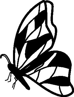 不規則な翼のデザイン無料のアイコンを持つ蝶側ビュー