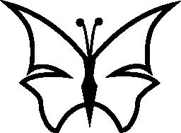 蝶の輪郭形状の無料アイコンをシャープに