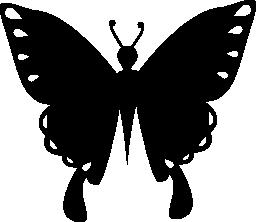 蝶黒い図形昆虫トップ ビュー無料アイコン