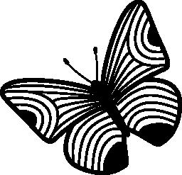 薄い縞模様の蝶のデザイン無料のアイコンを翼します。