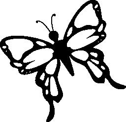 詳細な手順と蝶の羽で無料のアイコン