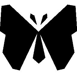 直線デザイン無料のアイコンの蝶