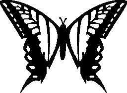 トップ ビュー無料アイコンから 2 つの大きな翼の蝶のデザイン