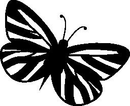 ストライプ翼蝶無料アイコン