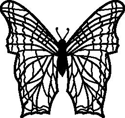 複雑な細い線パターンと蝶の羽でトップ ビュー無料アイコンから