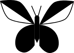 ような翼を持つ蝶葉無料アイコン