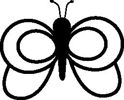 丸みを帯びた翼を持つ蝶概要無料アイコン