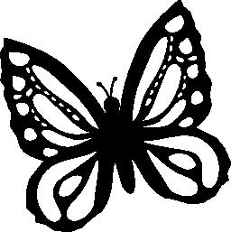 蝶トップ ビューから美しいデザインのわずかに無料のアイコンを左に回転