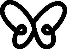 トップ ビュー無料アイコンから単純な粗輪郭形状を蝶します。
