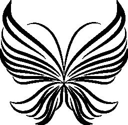光のストライプ翼蝶トップ ビュー無料アイコンから美しいデザイン