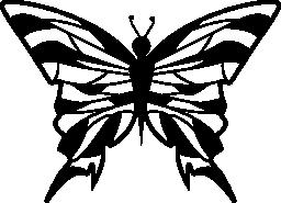 トップ ビュー無料アイコンから蝶のデザイン