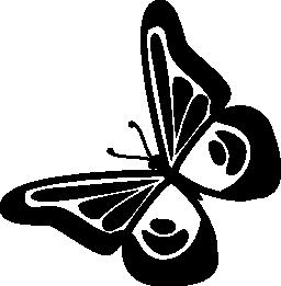 無料のアイコンを左に回転蝶デザイン トップ ビュー
