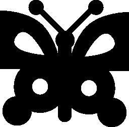 創造的な蝶設計トップ ビュー総概要無料アイコンの形状