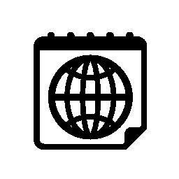 カレンダー ページの無料アイコンを惑星グリッド