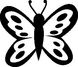 トップ ビュー無料アイコンから翼上のスポットと蝶します。