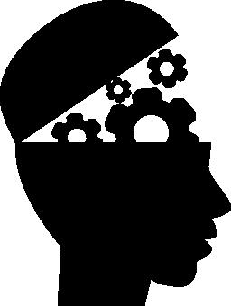 頭の歯車教育インタ フェース シンボル無料アイコン