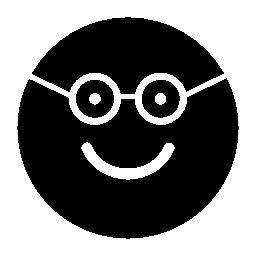 丸みを帯びた正方形の顔の無料アイコン オタク幸せな微笑の表面