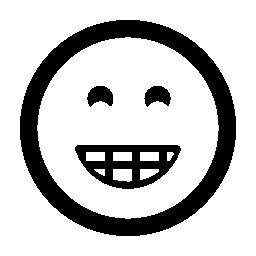 笑顔の絵文字平方無料のアイコン