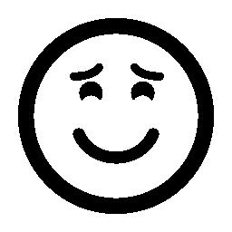 上げられた眉毛と閉じた目無料アイコン絵文字を笑顔