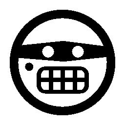目マスク無料アイコン絵文字刑事の顔