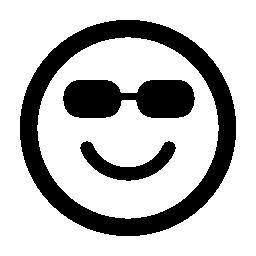 幸せな絵文字平方笑顔サングラス無料アイコン