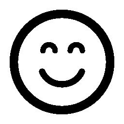 笑顔閉じた目無料アイコン絵文字広場
