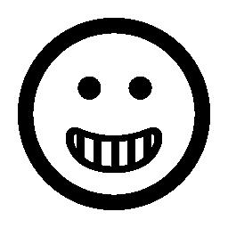 幸せな笑顔絵文字平方無料のアイコン